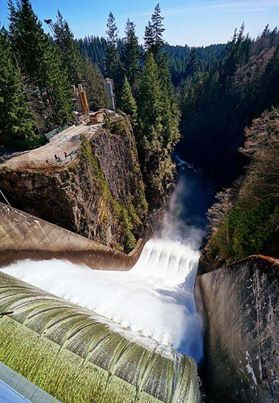 Cleveland Dam in North Vancouver BC, Canada.  Great views and a nice hike to the fish hatchery from the dam.