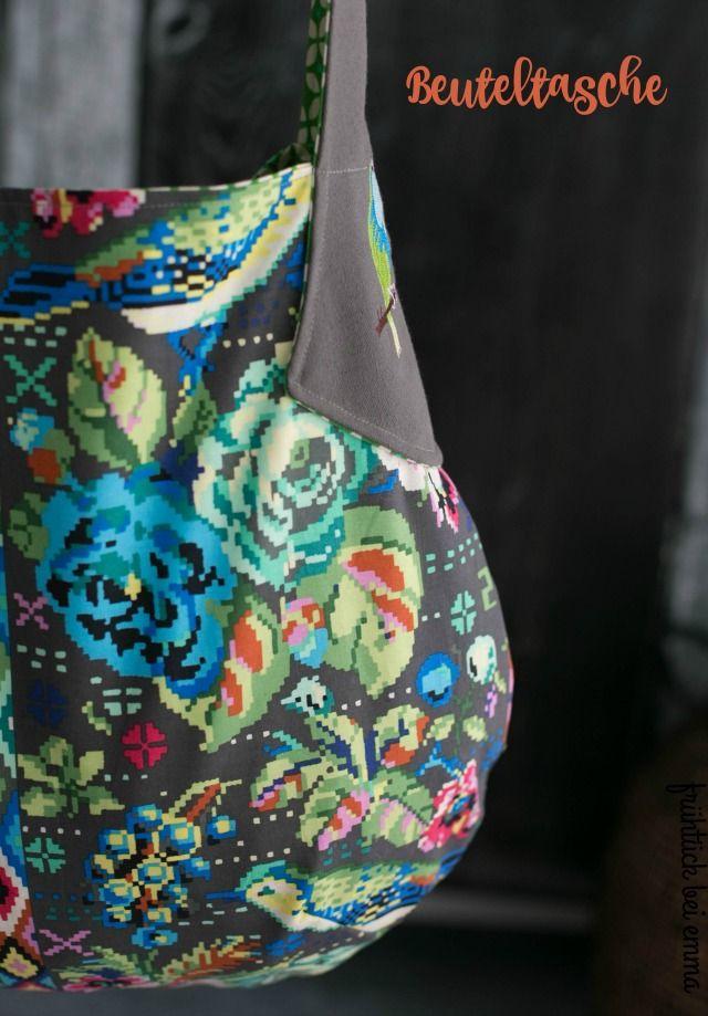Die Beuteltasche - schnellgenähte Tasche für den Taschenspieler 3 Sew Along Schnittmuster via Farbenmix - ein Beispiel von Frühstück bei Emma