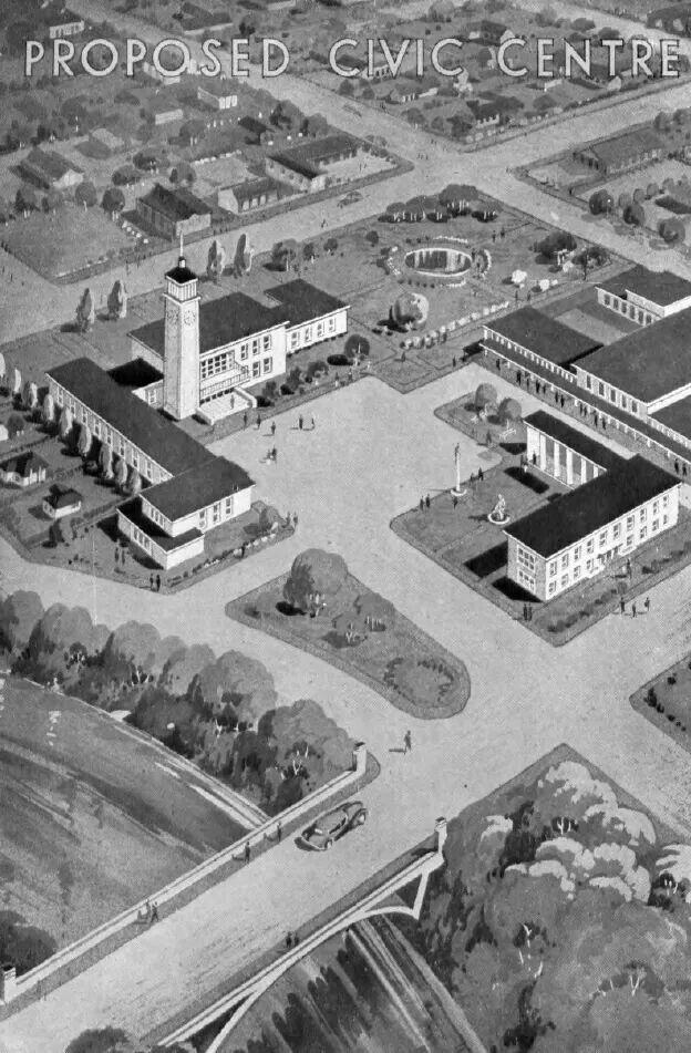 1946 proposed Shepparton civic centre.