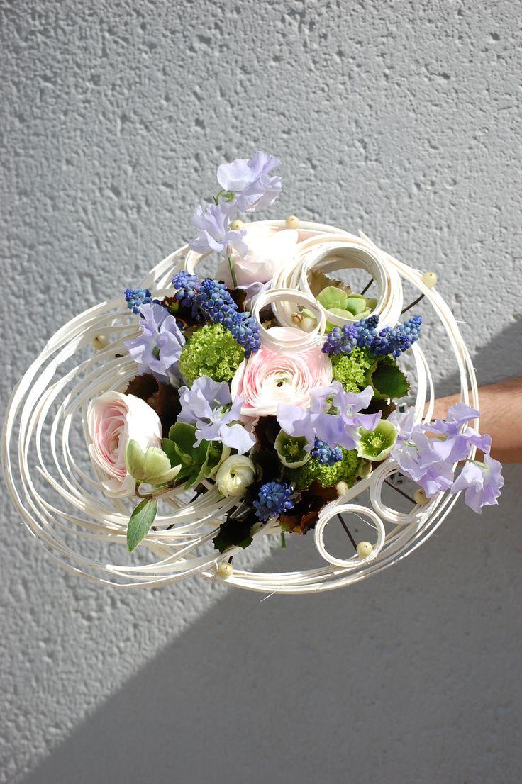 Démonstration florale réalisée par un formateur sur le thème du Printemps .Avril 2016. Cfa Blagnac( France).