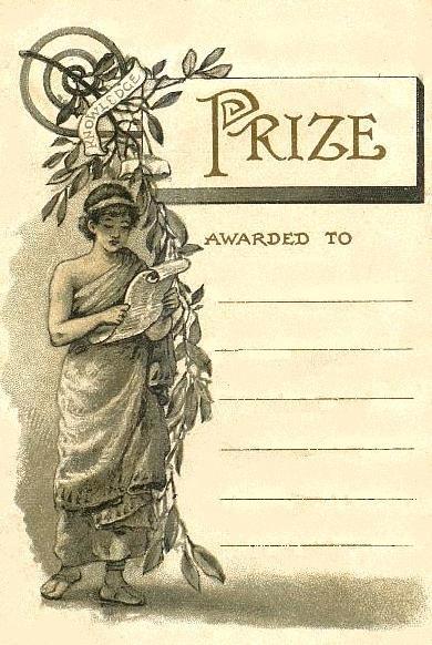Free Printable ~ Vintage School Presentation Award provided by Bumblebutton.blog
