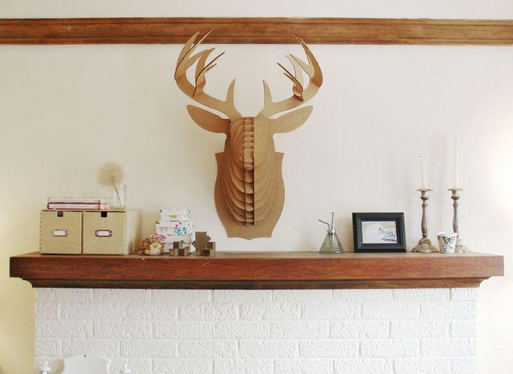 Guilty and loving it.Deer Trophy, Cardboard Taxidermy, Deer Head, Modern Taxidermy, Giants Cardboard, Cardboard Safari1, Design, Safari Modern, Cardboard Deer