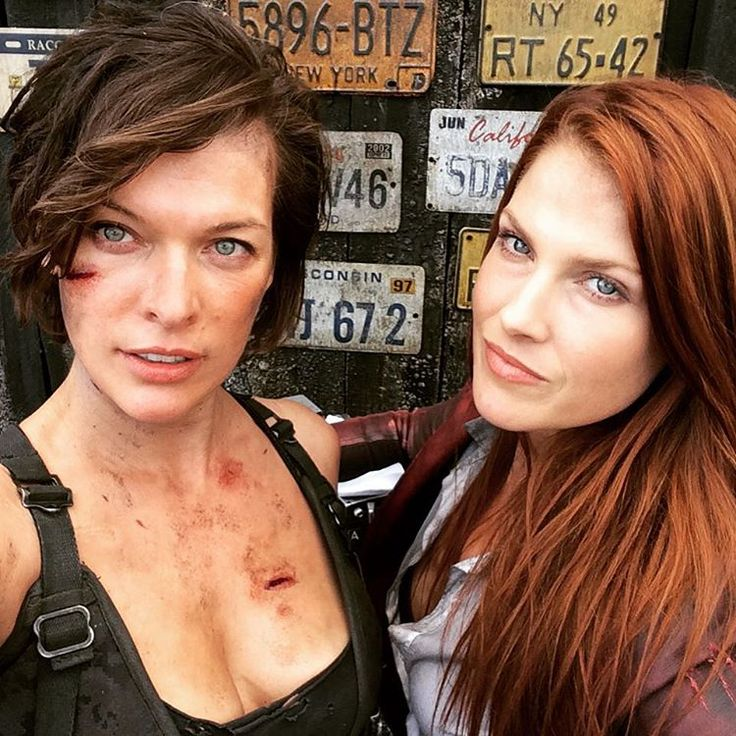 """Alice and Claire... Together again."" - Ali Larter via Instagram #Resident_Evil_The_Final_Chapter #Alice #Claire_Redfield"