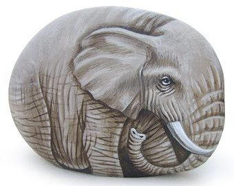 Сладкий Слон Окрашенные на море Рок |  Наскальная живопись Искусство Роберто Риццо по