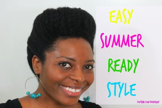 Easy Natural Hair Summer Style