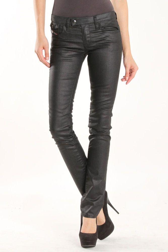 cb43ef7a9b NEW Ladies DIESEL LIVY-BIKER Black SKINNY SLIM leg JEANS women W27 L32 size  uk 8