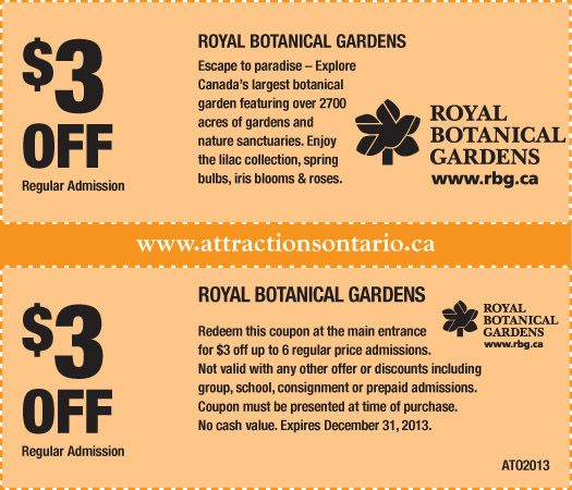 Discount coupons for missouri botanical gardens