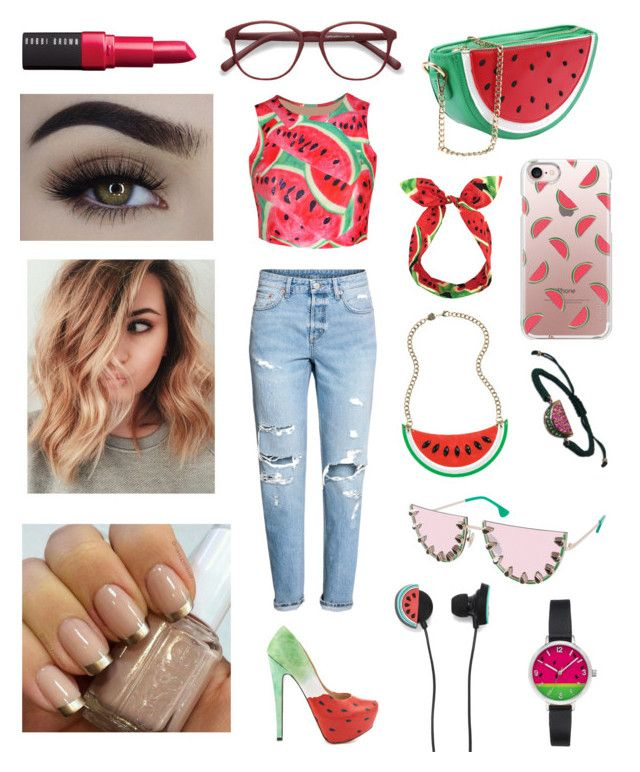"""""""Watermelon"""" by olahtory on Polyvore featuring WithChic, EyeBuyDirect.com, TaylorSays, Lulu in the Sky, Casetify, Pearl & Queenie, Plukka, Alice + Olivia, Forever 21 and Bobbi Brown Cosmetics"""
