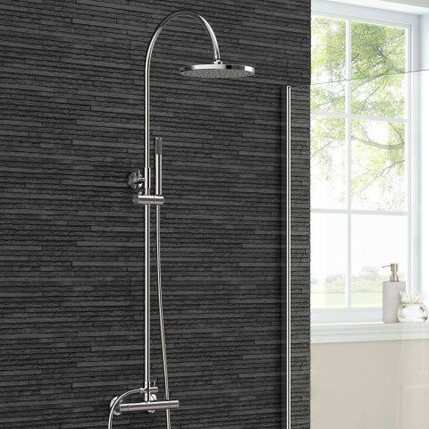 250mm Round Head & Hand Held - Cool to Touch Shower [PT-SS8014] - £97.99 : Platinum Taps & Bathrooms