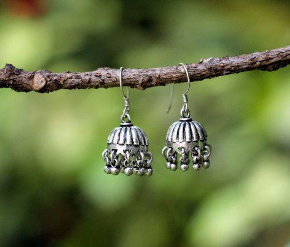 13 best Silver Jhumkas , jhumki, jumkas images on Pinterest ...