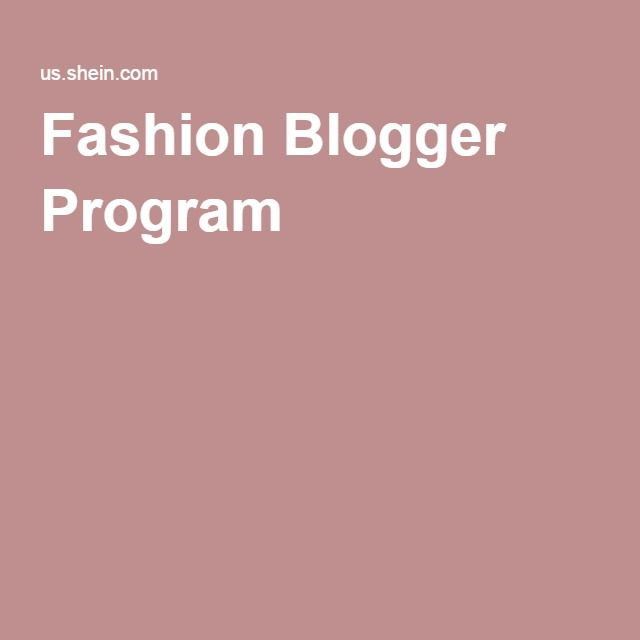 Fashion Blogger Program