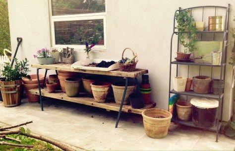 Nemt plantebord af gamle traller | Fuldtidsmor