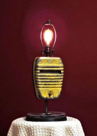 Drive In Speaker Lamp #vintage, #repurposed