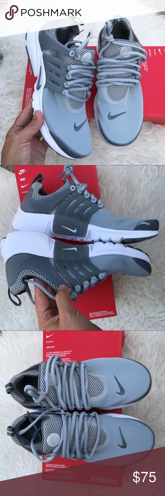 NIKE AUTHENTIC AIR PRESTOS YOUTH Sz 7 women's 8.5 NIKE AUTHENTIC AIR PRESTOS YOUTH Sz 7 women's 8.5 NEW BOX IS MISSING LID 100% authentic! Please look at Nike conversion size chart to figure out your youth to women size! Itemcloset#cuafo-treocho Nike Shoes