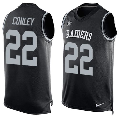 Nike Raiders  22 Gareon Conley Black Team Color Men s Stitched NFL Limited  Tank Top Jersey 5523ee1cb