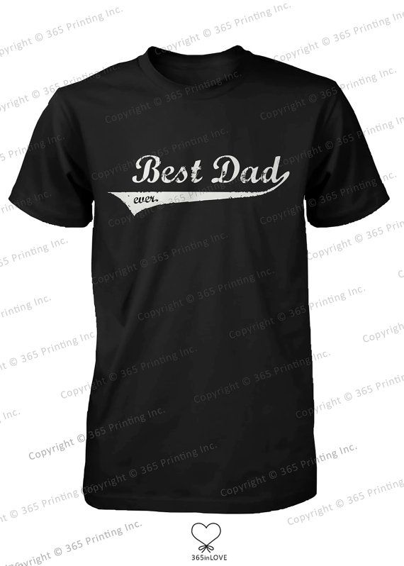 Best Dad Ever Swash Style T-Shirts - Father's Day Gift Idea on Etsy, $12.99
