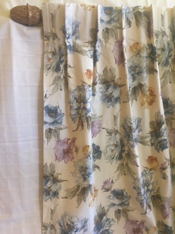 Fantastic Florals. Two as new curtains measuring 126 cms wide each top x 204 cms long, cost of $700.00 per pair.