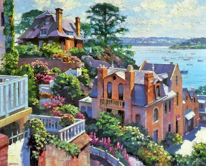 Ховард Беренс (Howard Behrens) — американский художник из Чикаго, создающий солнечные картины в стиле пост-импрессионизм. Работы Ховарда наполнены яркими цветами и воздухом.