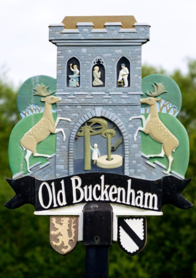 Old Buckenham, Norfolk - a complex design combining a lot of different elements.