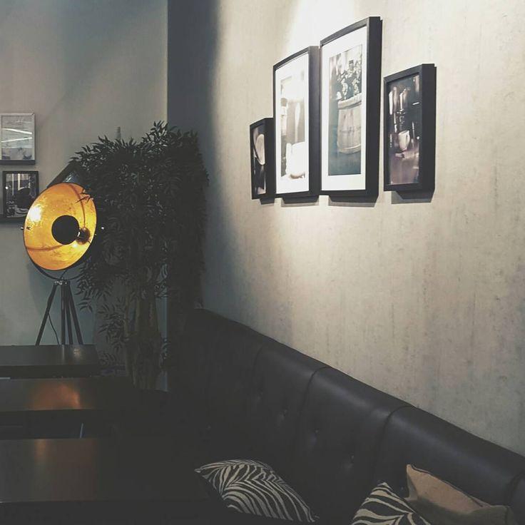 Industrial tripod floor lamp in Robert's coffee Arabia  - Captain