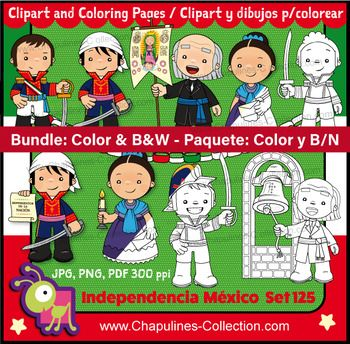 *En español más abajo. Bundle: Mexican Independence day clip art, color and black & white, Mexico, school, kids illustrations, mexican holiday set 125 This bundle includes the Color and black & white sets: Color: https://www.teacherspayteachers.com/Product/Mexican-Independence-clip-art-Heroes-Mexico-illustrations-fiesta-set-104-2765724