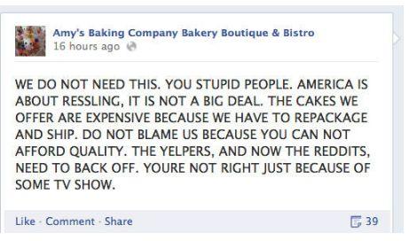 Amy's Baking Company Epic Social Media Meltdown
