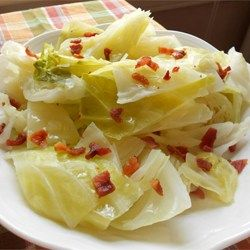 Cabbage and onions are sauteed in bacon grease, and served with a splash of vinegar, for a tangy, hearty dish that will surprise you.