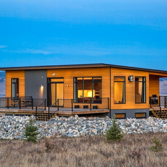 12 best images about prefab living on pinterest for Prefab beach cottage