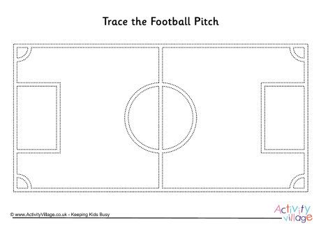 Football pitch tracing page