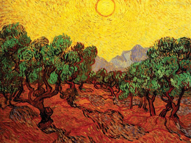 Sun over Olive Grove, Van Gogh, 1889