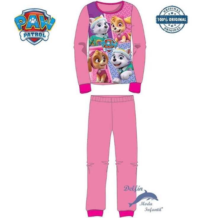 Pijama de niña de la PATRULLA CANINA de micropolar rosa  en CAJA