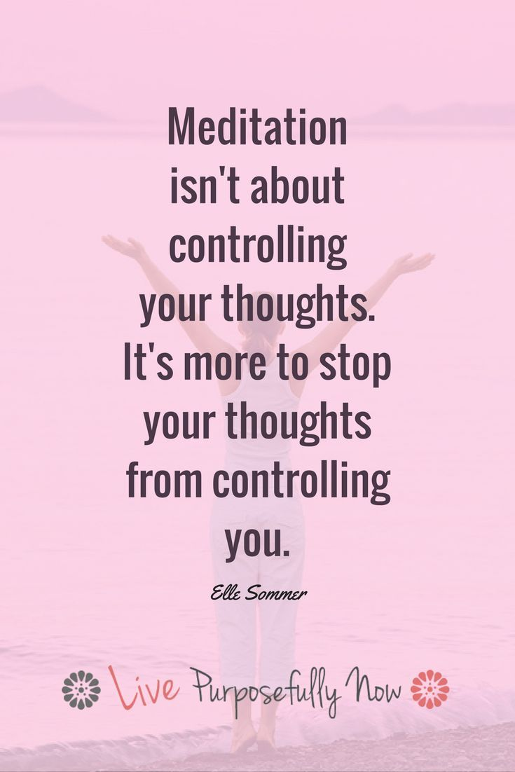 Trying to control your thoughts isn't the point...the point is not to let your thoughts control you!