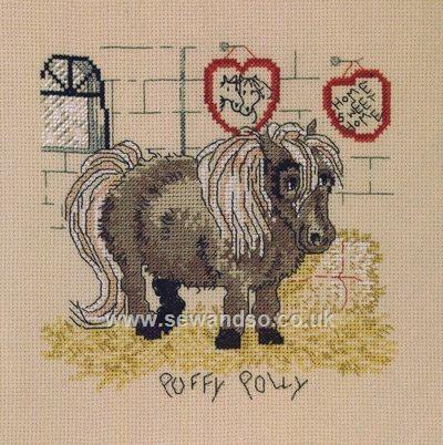 Puffy Polly Cross Stitch Kit sewandso.co.uk