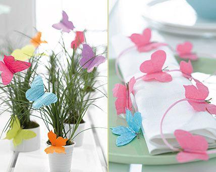 Schmetterlinge bringen Leichtigkeit - Frühling auf dem Tisch 8