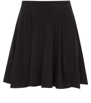Inspire Black Flounce Skater Skirt