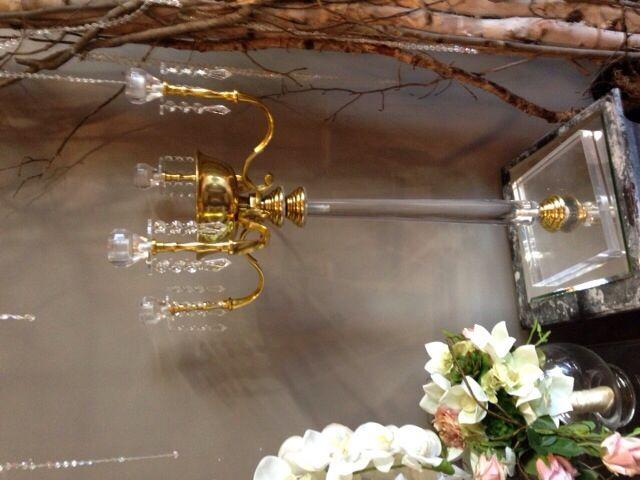 Elegant Four Arm Gold Candelabra