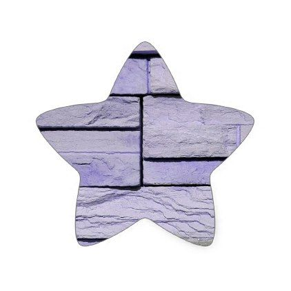 Funky Modern Lavender Stacked Bricks Star Sticker - girly gift gifts ideas cyo diy special unique