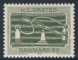 【デンマーク 1970年 未使用 ヒンジなし】小学校の理科の実験でやりました。切手のサイズ:24×36mm