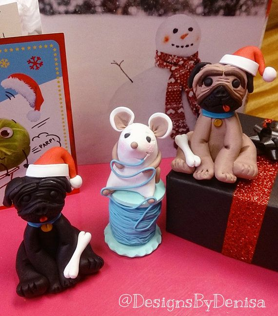 Handmade Personalised Pets Clay Ornaments   by DesignsByDenisa