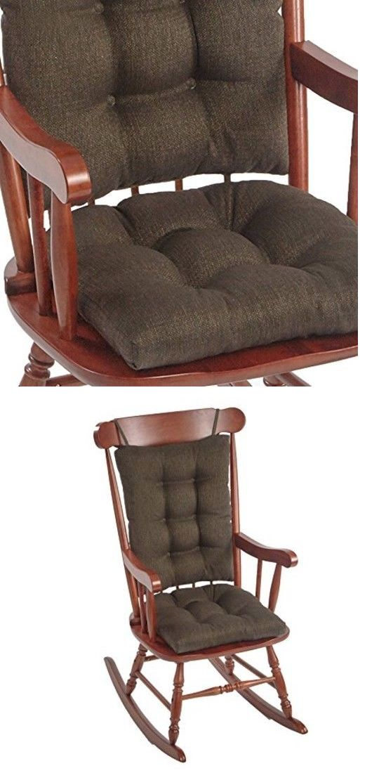 Thick Chair Cushions Hanging Indoor Uk Patio Furniture And Pads 79683 Jumbo Rocking Chestnut Non Slip Comfy Seat Pad Cozy To Sit Buy It Now Only 51 85 On Ebay