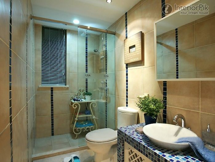 Blue Eastern Mediterranean style decoration bathroom pictures ...