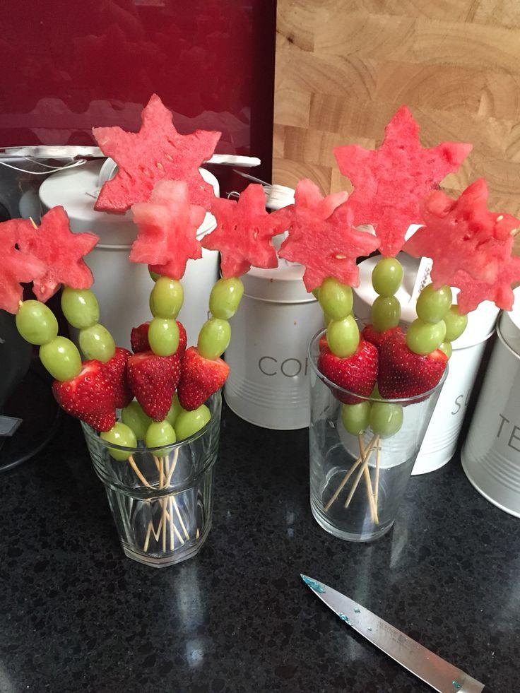 FROZEN party - fruit wands