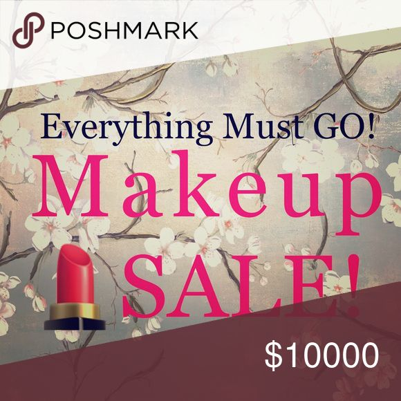 💄 Makeup Sale 💄 Everything Must Go! 💄 Makeup Sale 💄 Everything Must Go! 📌 Firm Low Price ✔️ NO TRADES ✔️ Smoke & Pet Free Home ✔️ Everything in pristine condition ✔️Get Extra 10% Off with Bundle ✔️ Fast Shipping ✔️ Sending you all LOTS of ❤️ !!!  ✔️ Happy Poshing ✔️ My goal is that you'll be so thrilled, you'll refer me to your friends and family ✔️ Makeup