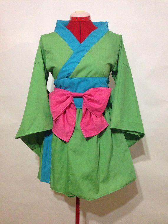 Simple Waloli Kimono Dress in Kelly Green Ready To от skycreation