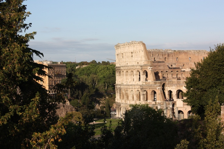The Colosseum in Rome, a few hours ago