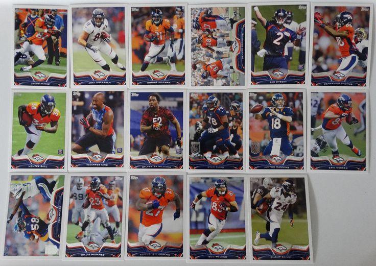 2013 Topps Denver Broncos Team Set of 17 Football Cards #DenverBroncos