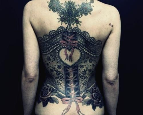 Very creative and beautiful! Lovely #Steam-Punk Tattoo