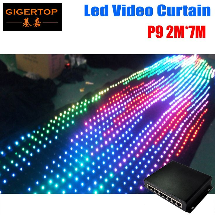 P9 2M*7M Fireproof Led Vision Curtain Wedding Stage Backdrop Light Curtain Make Program Light Curtains with online controller #Affiliate