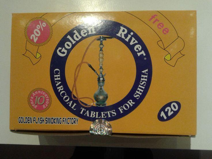 Kohle Golden River = 12 Rollen  á 10 Tabs, 40 mm. Schnellzünder Räucherkohle. in Sammeln & Seltenes, Tabak, Feuerzeuge & Pfeifen, Wasserpfeifen | eBay!
