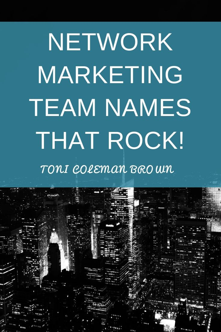 Ever wondered about naming your network marketing team? When